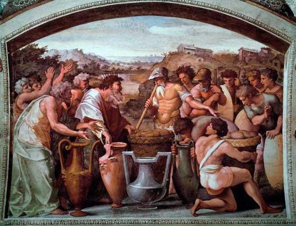 Аврам и Малки-Цедек. Художник Рафаэль, 1519 г.
