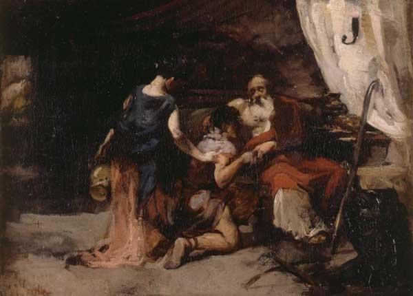Благословение Исаака. Хоакин Соролья, XIX в.