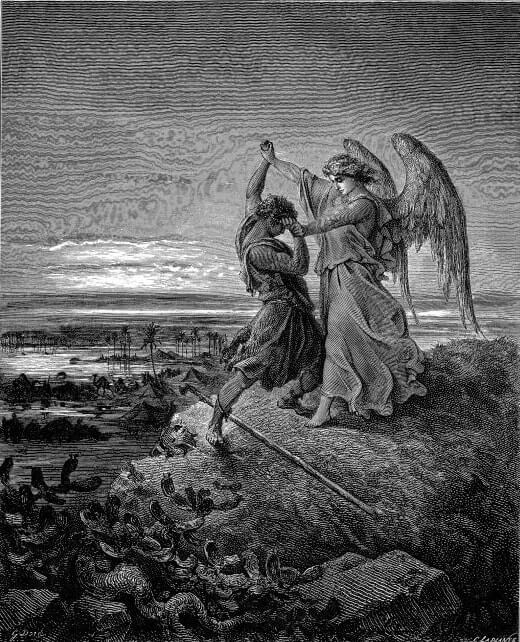 Борьба Иакова с Ангелом. Художник Г. Доре
