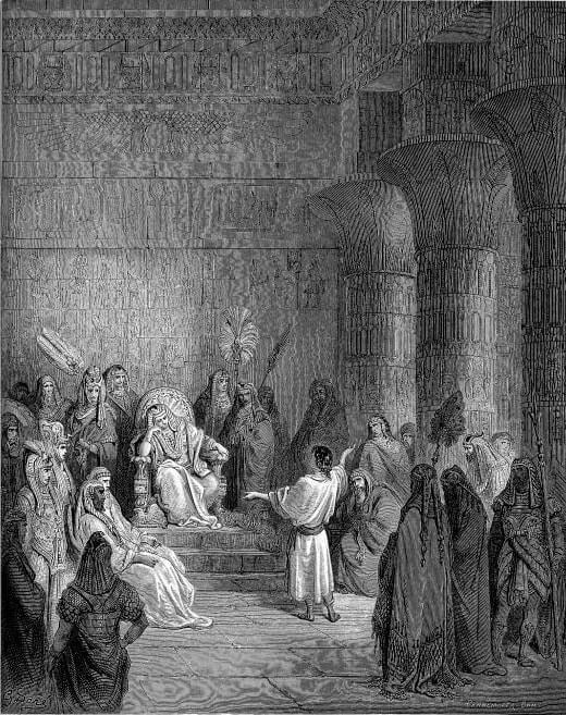 Иосиф исстолковывает сон фараона. Братья продают Иосифа. Художник Г. Доре