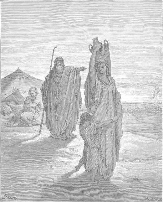 Изгнание Измаила и его матери. Художник Г. Доре