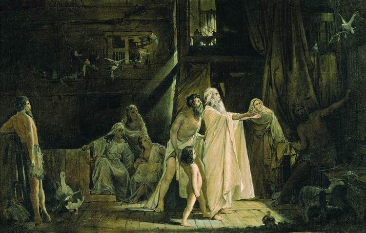 Ноев ковчег. Художник А. П. Рябушкин. 1882 г.