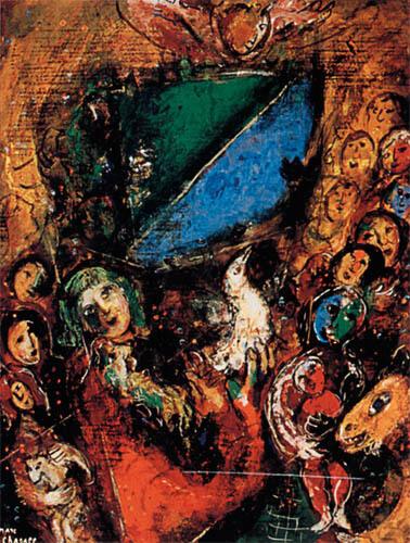 Ноев ковчег. Художник Марк Шагал. 1955-1956 гг.