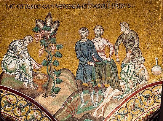 Ной делает вино. Мозаика