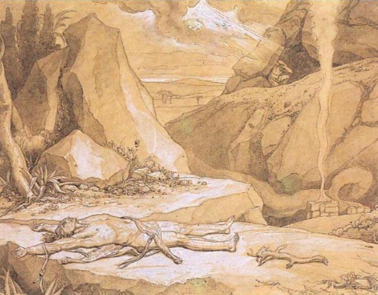 Первое убийство. Ф. А. Бруни. 1867 г.