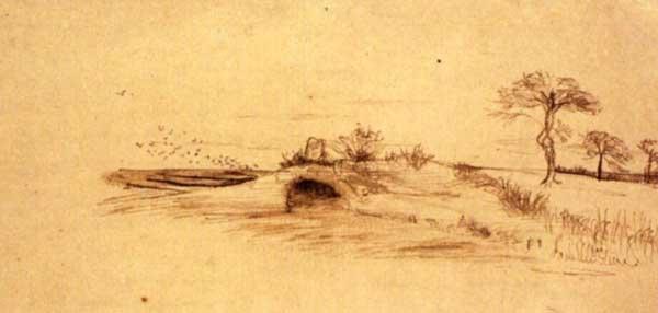 Пещера Махпела. Художник Винсент ван Гог, 1877 г.