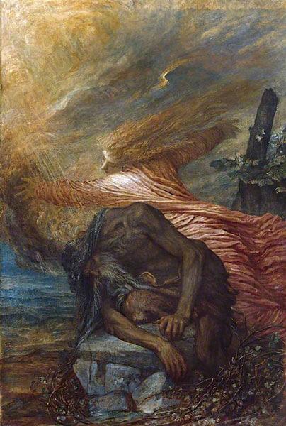 Смерть Каина. Художник Джордж Фредерик Уоттс 1872-1875 гг.