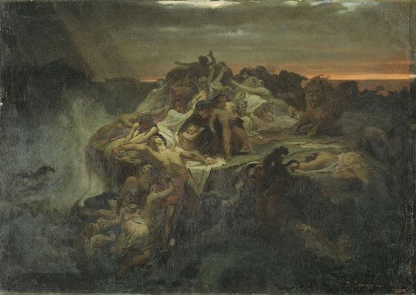 Всемирный потоп. Художник В. П. Верещагин. Эскиз. 1869 г.