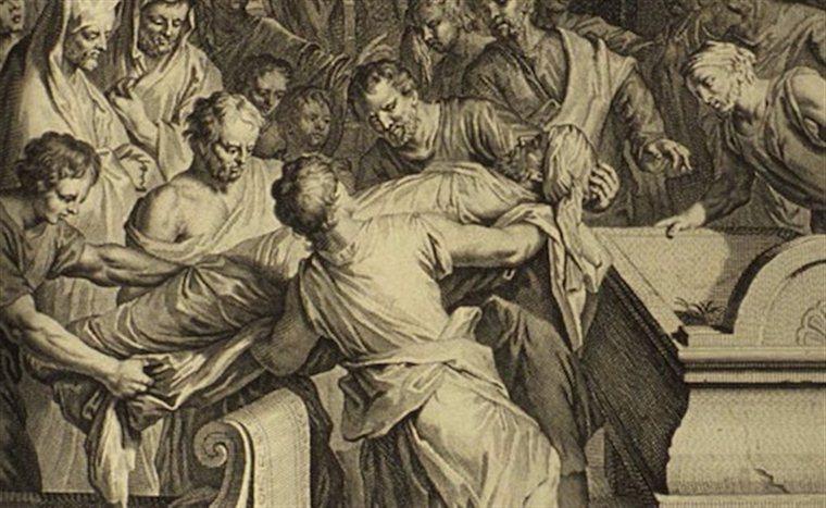 Исаак и Измаил хоронят Авраама Gerard Hoet (1648-1733)