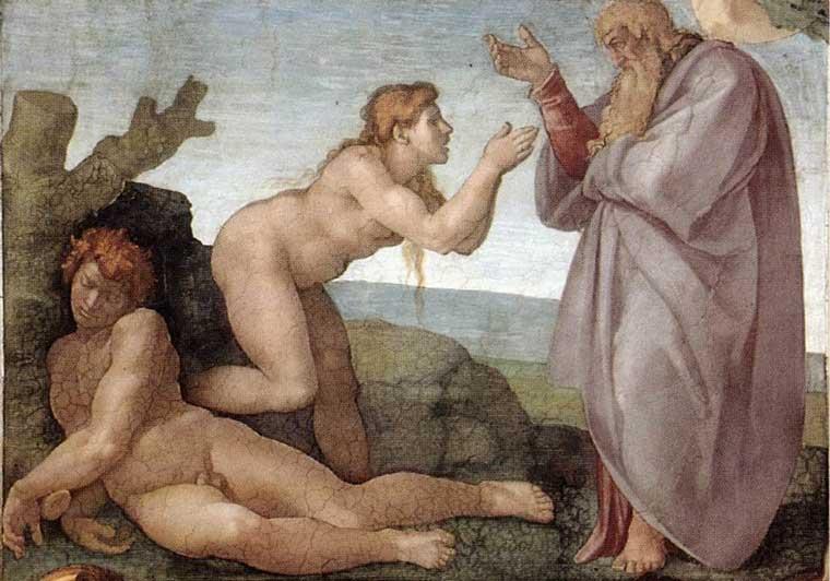 Сотворение Евы. Фреска Микеланджело, 1509-1510 гг.