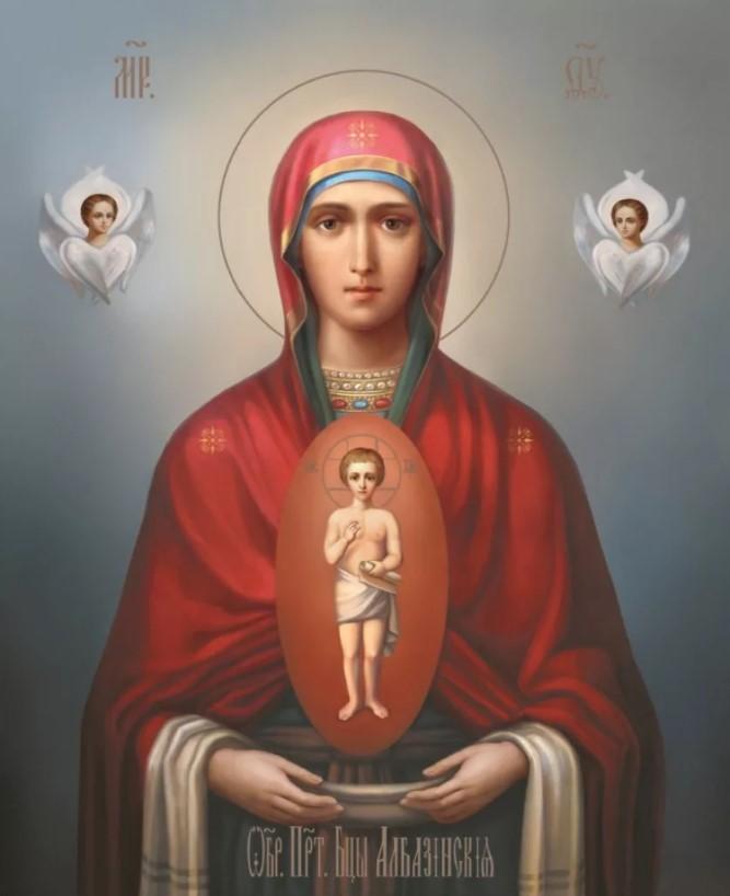 """Албазинская икона Божией матери """"слово плоть бысть"""""""