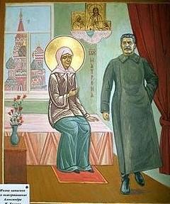 Икона «Матрона и Сталин»
